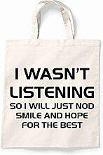 Canvas Tote Bag I stammt hören wiederverwendbar