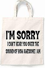 Canvas Tote Bag im Sorry Ich kann nicht hören