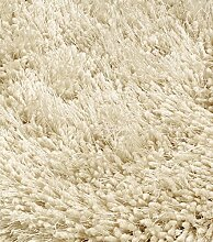 Canvey Teppich 65x135 cm Cream Ecru Hochflor Shaggy
