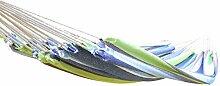 Canyonlands Hängematte 200 x 100 cm, Belastbarkeit bis ca 110 kg, in verschiedenen Designs (Köln - Blau Grün Weiß)