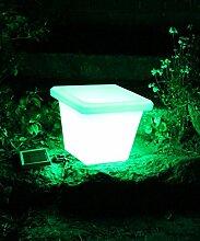 Canyonlands multifunktionale solar LED Gartenleuchte Blumentopf / Eiskübel in verschiedenen Größen (28 x 28 x 23 cm)