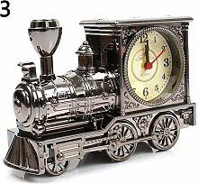 CAODANDE Cartoon Lokomotive Zug Wecker Antik Motor