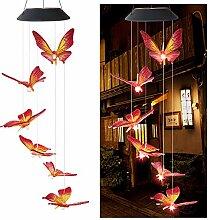 Caojinyu Solar Schmetterling Kolibri Windspiel,