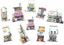 CAOLATOR Aufkleber für Kinder Stadt Sticker für