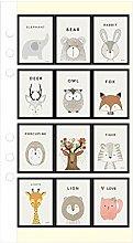 CAOLATOR Aufkleber Kinder Tiere Sticker Papier