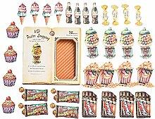 CAOLATOR Aufkleber Snack Sticker Kinder Mädchen