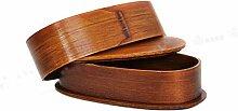 CAOLATOR. Brotdose Holz Doppelte Lunchbox