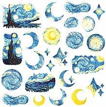 CAOLATOR Deko Sticker Aufkleber Mädchen Blau