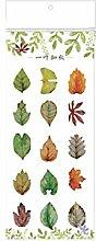 CAOLATOR Deko Sticker Blätter Aufkleber Mädchen