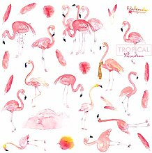 CAOLATOR Deko Sticker Flamingo Aufkleber Mädchen