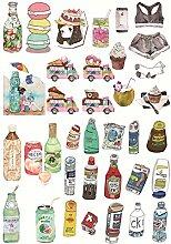 CAOLATOR Essen Sticker Mädchen Aufkleber Kinder