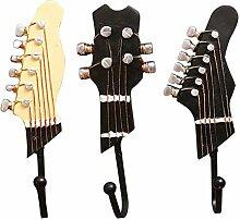 CAOLATOR Kleiderhaken 3 Stück Gitarre Wandhaken