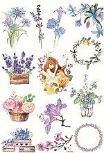 CAOLATOR Mädchen Sticker Blumen Aufkleber Kinder