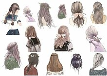 CAOLATOR Mädchen Sticker Porträt Aufkleber
