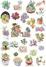 CAOLATOR Mädchen Sticker Succulents Aufkleber