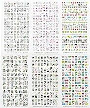 CAOLATOR PVC Tagebuch Sticker Fotoalbum Sticker