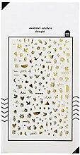 CAOLATOR. PVC Tagebuch Sticker Gold Blätter