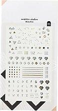 CAOLATOR. PVC Tagebuch Sticker Konstellation