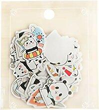 CAOLATOR Scrapbooking Aufkleber Panda Sticker Deco
