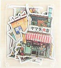 CAOLATOR Scrapbooking Aufkleber Shop Sticker Deco