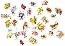 CAOLATOR Sticker Blumen Aufkleber für Kinder