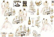 CAOLATOR Sticker Hochzeit Aufkleber Mädchen Kleid
