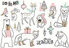 CAOLATOR Sticker Weihnachten Aufkleber für