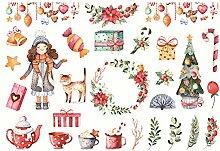 CAOLATOR Sticker Weihnachten Aufkleber Kinder