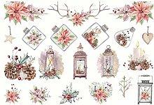 CAOLATOR Sticker Weihnachten Aufkleber Mädchen