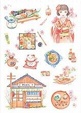 CAOLATOR Sushi-Platz Aufkleber Mädchen Sticker