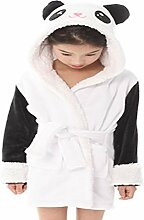 CAOLATOR Winter Kinder Bademantel Mädchen Panda