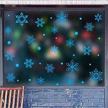 CAOQAO Schneeflockendekor Weihnachten