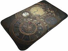 CAP PILLOW HOME Steampunk Clocks Non Slip Floor