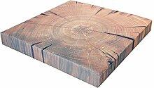 Cape Cod Dekokissen Baumstamm 'Holz 2' eckig, Gr. 40 x 40 x 5 cm, 141010089