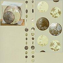 Capiz-Girlande 2sort L120cm beige Natur