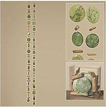 Capiz-Girlande 2sort L180cm grün Natur