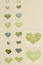 Capiz-Girlande Herz grün 2er Set Zimmergirlande