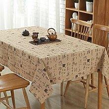 CAPOOK Baumwoll-Leinen-Tischdecke Druck Couchtisch