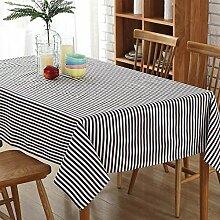 CAPOOK Gestreifte kleine frische Tischdecke