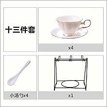 Cappuccino Becher aus Keramik-Tasse, Knochenporzellan-Tasse mit Löffel h