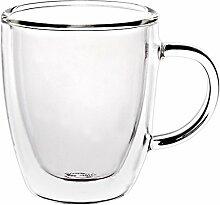 Cappuccino Glas mit Henkel Doppelwandglas Thermo