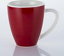 cappuccino latte becher keramik - becher,rote 370 ml.