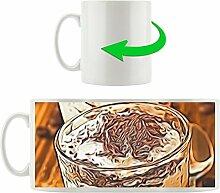 Cappuccino, Motivtasse aus weißem Keramik 300ml, Tolle Geschenkidee zu jedem Anlass. Ihr neuer Lieblingsbecher für Kaffe, Tee und Heißgetränke.