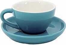 Cappuccino Tasse und Untertasse, verschiedene