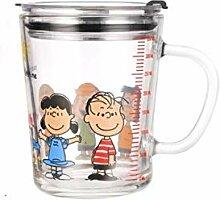 Cappuccino Tassen Glas Kaffeebecher Mit Strohhalm