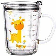Cappuccino Tassen Glas-Kaffeetasse Mit Strohhalm