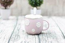 Cappuccino Tassen Kirschblüten Geprägte Tasse