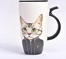 Cappuccinotassen Tasse Reisebecher 600 Ml Katze
