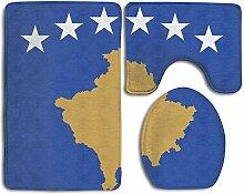 Caps big Flagge des Kosovo Rutschfeste Badteppiche