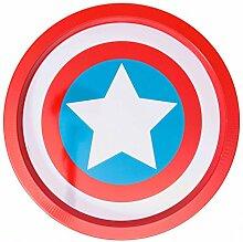 Captain America Schild Serviertablett mit 35 cm Durchmesser - Captain America Logo Tablett Marvel